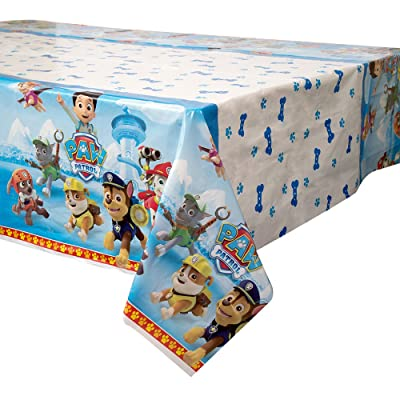 "PAW Patrol Plastic Tablecloth, 84"" x 54"": Toys & Games"