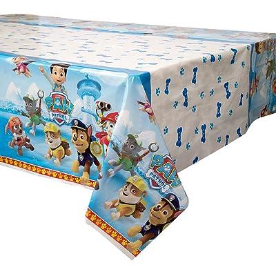 "PAW Patrol Plastic Tablecloth, 84"" x 54"": Toys & Games"