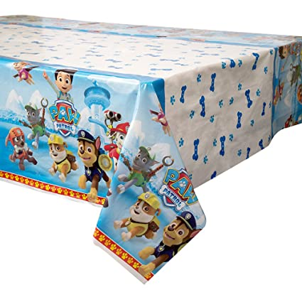 PAW Patrol Plastic Tablecloth, 84u0026quot; X 54u0026quot;