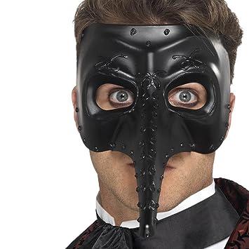 NET TOYS Máscara Doctor Peste - Negro | Careta Médico de la Peste Negra | Antifaz