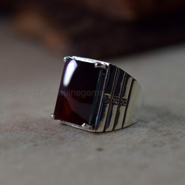 boys ring solid 925 sterling silver jewelry birthday gift jewelry handmade ring january birthstone ring statement ring garnet gemstone ring heavy use ring