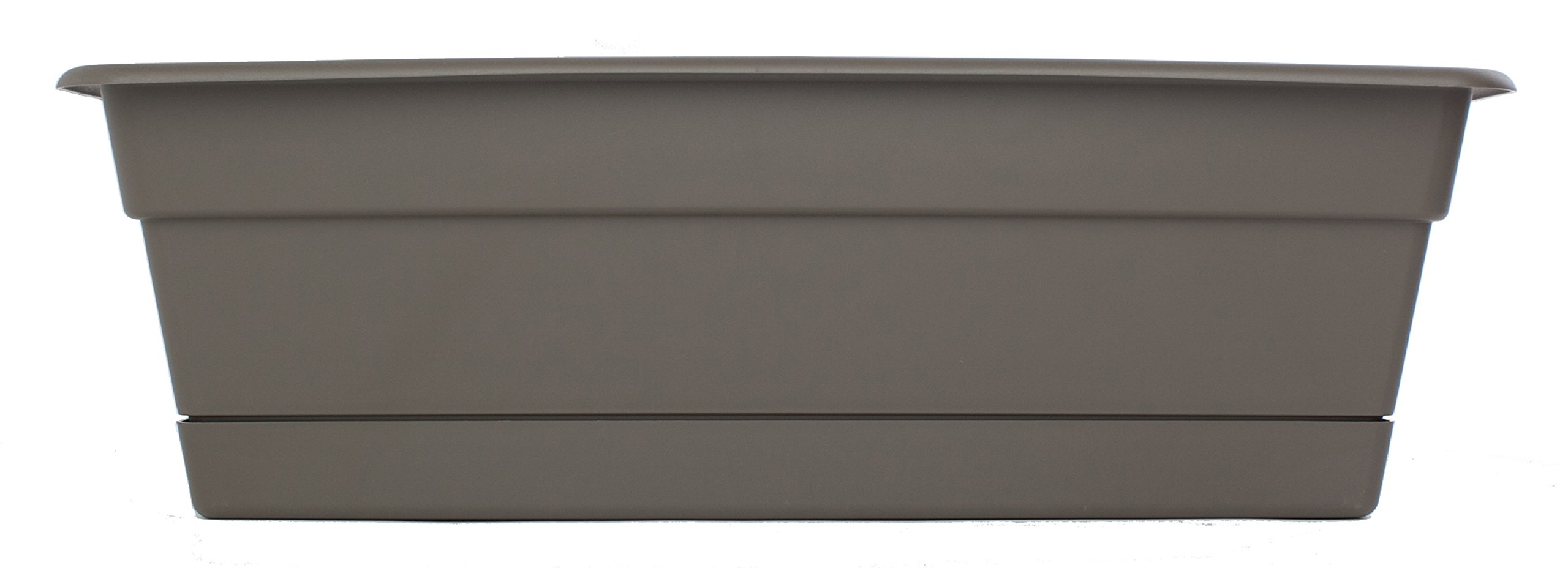 Bloem DCBT2460-12 12-Pack Dura Cotta Plant Window Box, 24-Inch, Peppercorn by Bloem