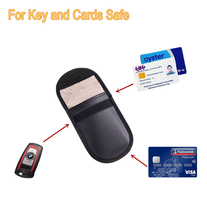 Anti-Radiation T/él/éphone Portable TAIKUU Pochett Sacs Portefeuille Anti-Tracking Anti-Espionnage 2* Signal Blocage Coque pour Cl/é Voiture GPS ou RFID