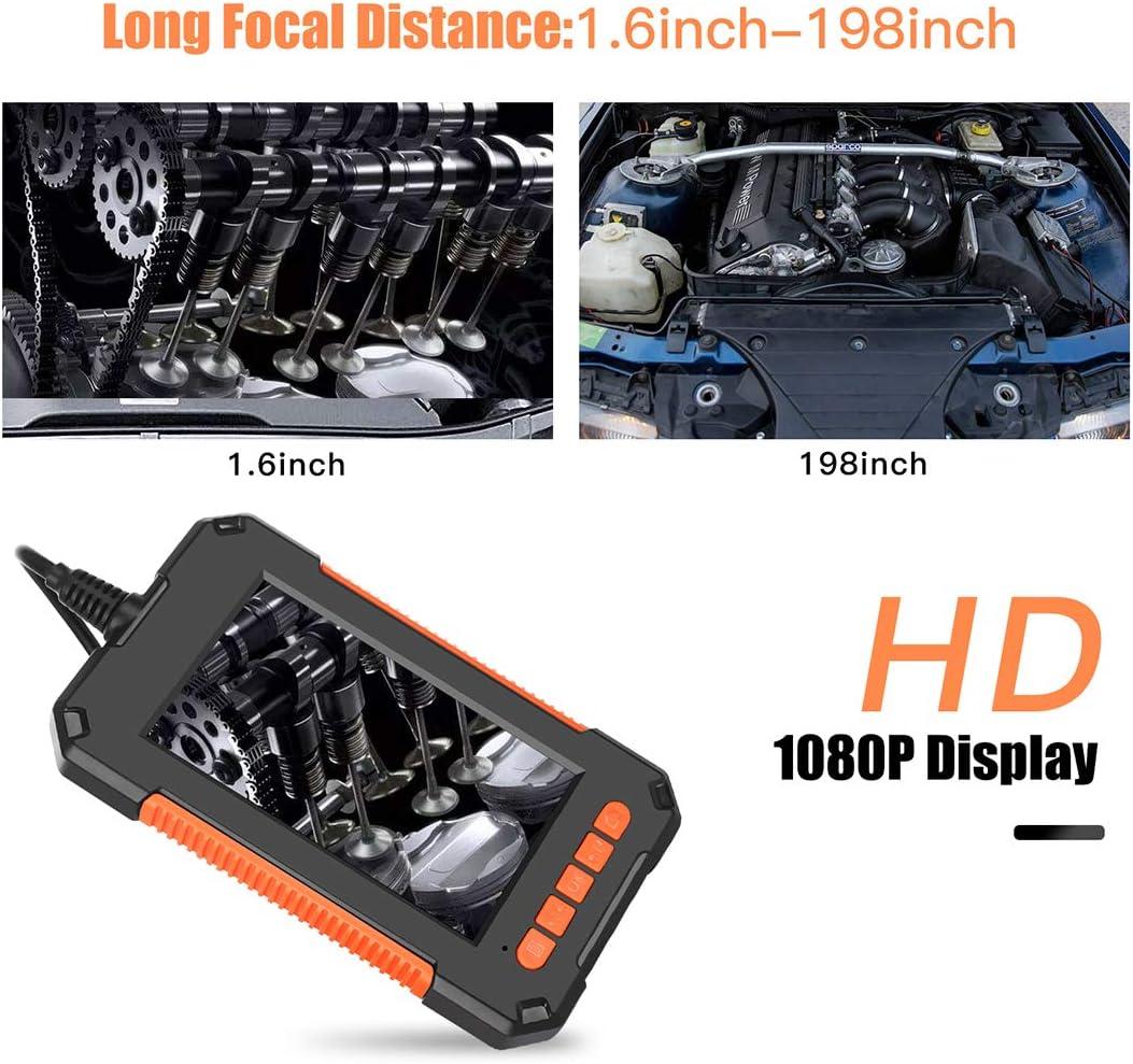 1080P HD 4.3Inch Micro Macchina Fotografica Controllo Periscopio IP67 Macchina Fotografica Impermeabile Controllo Serpente con 8 LED,Rigid,8m MJLING 8Mm Endoscopio Industriale