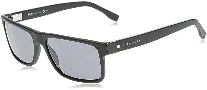 Hugo Boss Boss 0599/S TD T7O gafas de sol, Negro (Matte Black/Grey Pz), 57 Unisex-Adulto