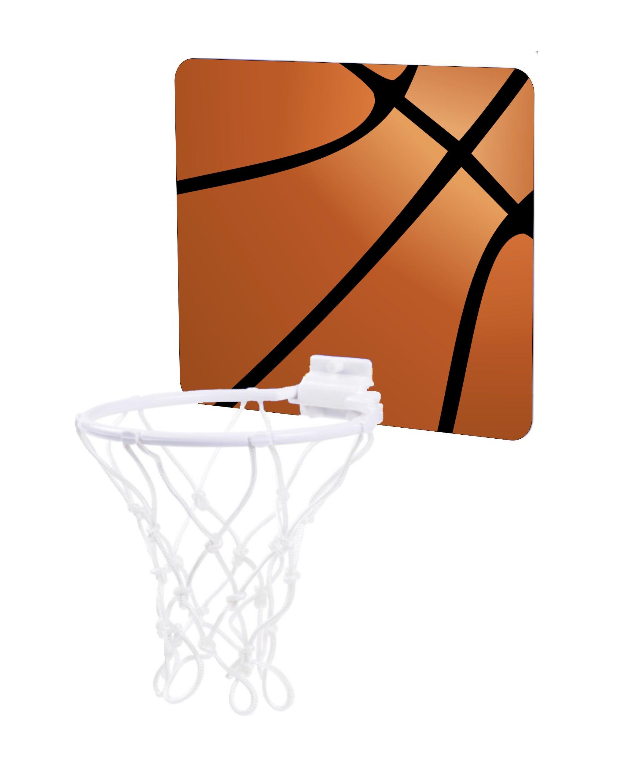 Jacks Outlet Basketball Up Close Design - Childrens 7.5'' x 9'' Mini Basketball Backboard - Goal with 6'' Hoop