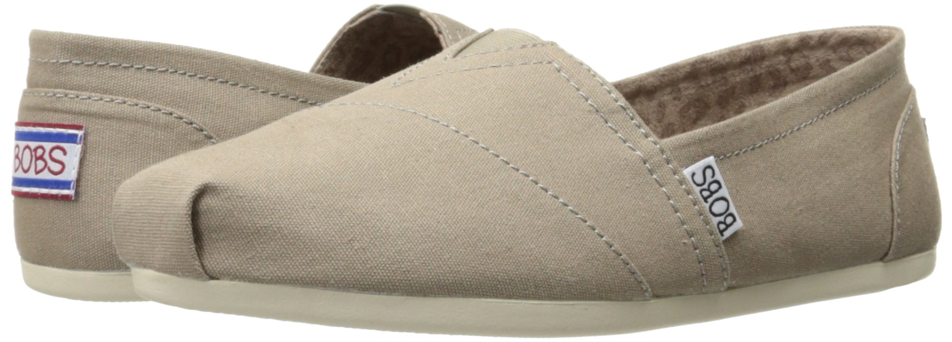 Skechers BOBS Women's Plush-Peace and Love Flat, Taupe, 8.5 W US by Skechers (Image #6)