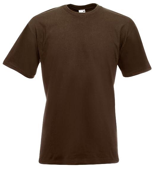 Fruit of the Loom Super Premium T-Shirt Schokolade S S,Schokolade