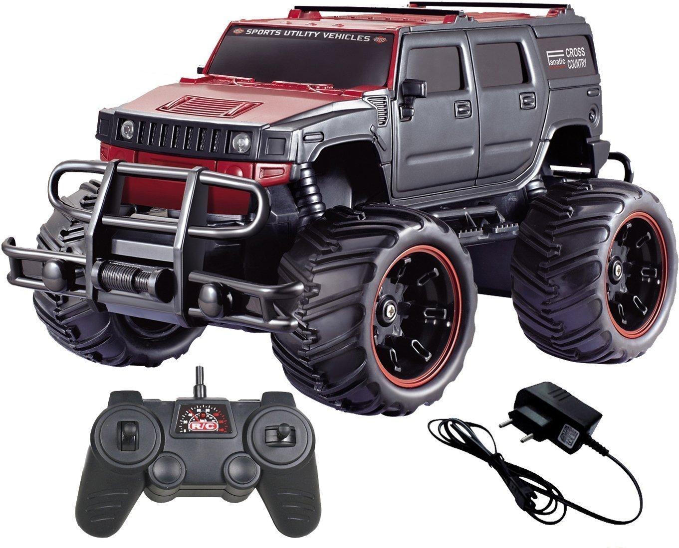 Zest 133 Toyz Remote Control Big Hummer Style Truck 13:13 (Red Black Xc13) | truck hummer