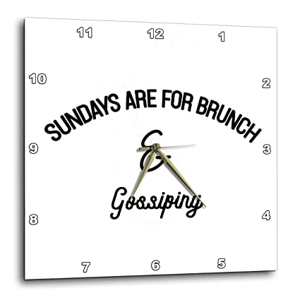 Sundays are for Brunch and Gossiping T-Shirts 3dRose Tory Anne Collections Quotes