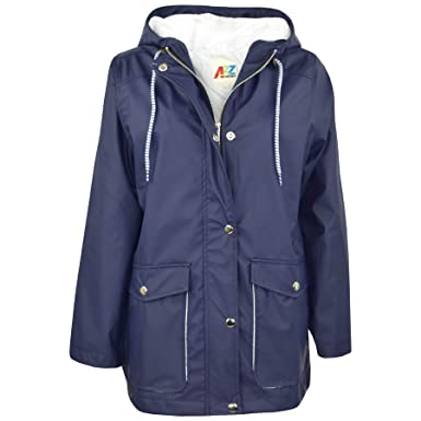 68c36686822b A2Z 4 Kids® Kids Girls Boys PU Raincoat Jackets Designer s Navy ...