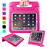 AVAWO iPad 2 3 4 Kids Case - Light Weight Shock Proof Convertible Handle Stand Kids Friendly for Ipad 2, Ipad 3Rd Generation, Ipad 4Th Generation Tablet - Magenta/Rose