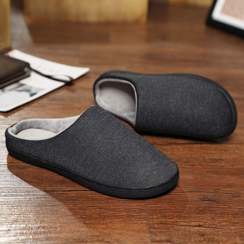 Men's and Women's Comfort Quilted Memory Foam Fleece Lining House Slippers Slip On Clog House Shoes,SUNSEE 2019 by MEN SHOES BIG PROMOTION-SUNSEE (Image #3)