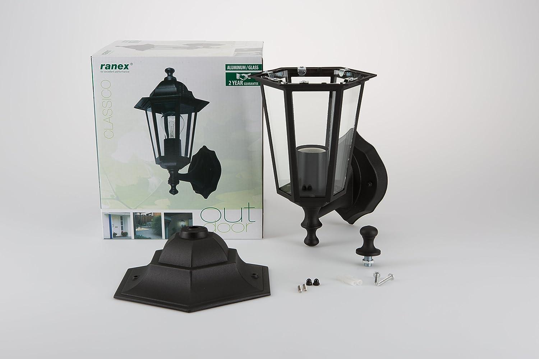 Plafoniere Per Esterno Led Ranex : Ranex clas montante classico lampada da parete in ghisa