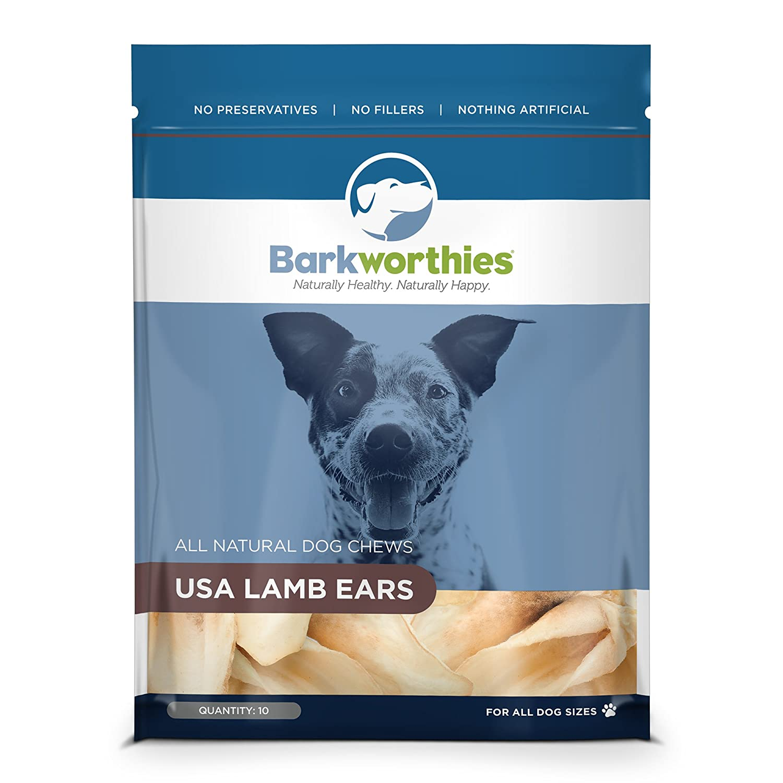 Barkworthies Lamb Ears All Natural Lamb Dog Treats