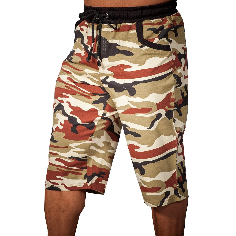 BIG SM EXTREME SPORTSWEAR Herren Capri Bermuda Shorts Sporthose Bodybuilding 1653