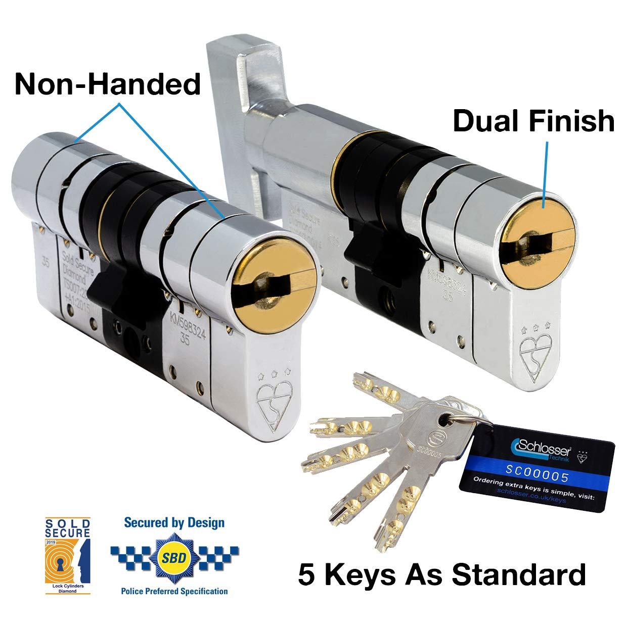 Sold Secure Diamond S/écuris/é par Design Police approuv/é TS007 3 /étoiles Cylindre europ/éen ultra haute s/écurit/é