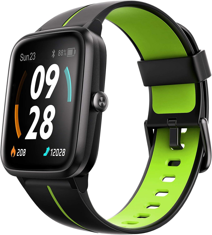 """Ulefone Watch GPS - 40 Días Duración Batería, Reloj Inteligente 5ATM Impermeable, Pantalla 1,3"""", Pulsera Actividad Deportivo, Pulsómetro, Rastreador Ejercicios Monitor Sueño para iOS Android Verde"""