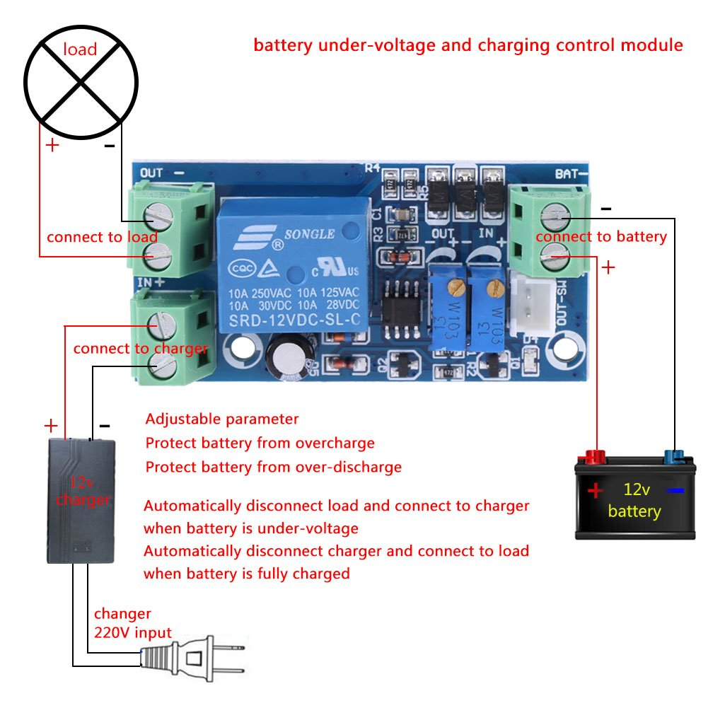 Charging Protection Board Storage Battery Solar Panel Charger Regulator Controller Safe 12v Undervoltage Automatically Turn On Off Module For Lead Acid
