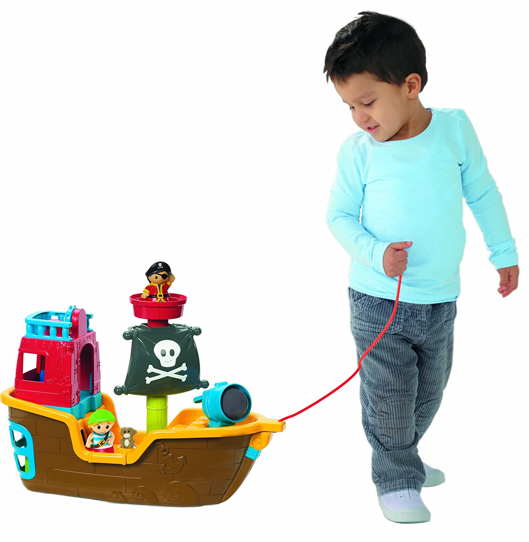 Amazon Mega Bloks Pull Along Musical Pirate Ship Toys & Games