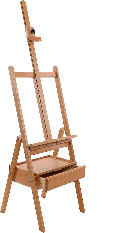 US Art Supply Studio H-Frame Wood Artist Painting Floor Easel with Storage Drawer