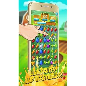 Fruit Link Smash Mania: juego gratuito Match 3: Amazon.es ...