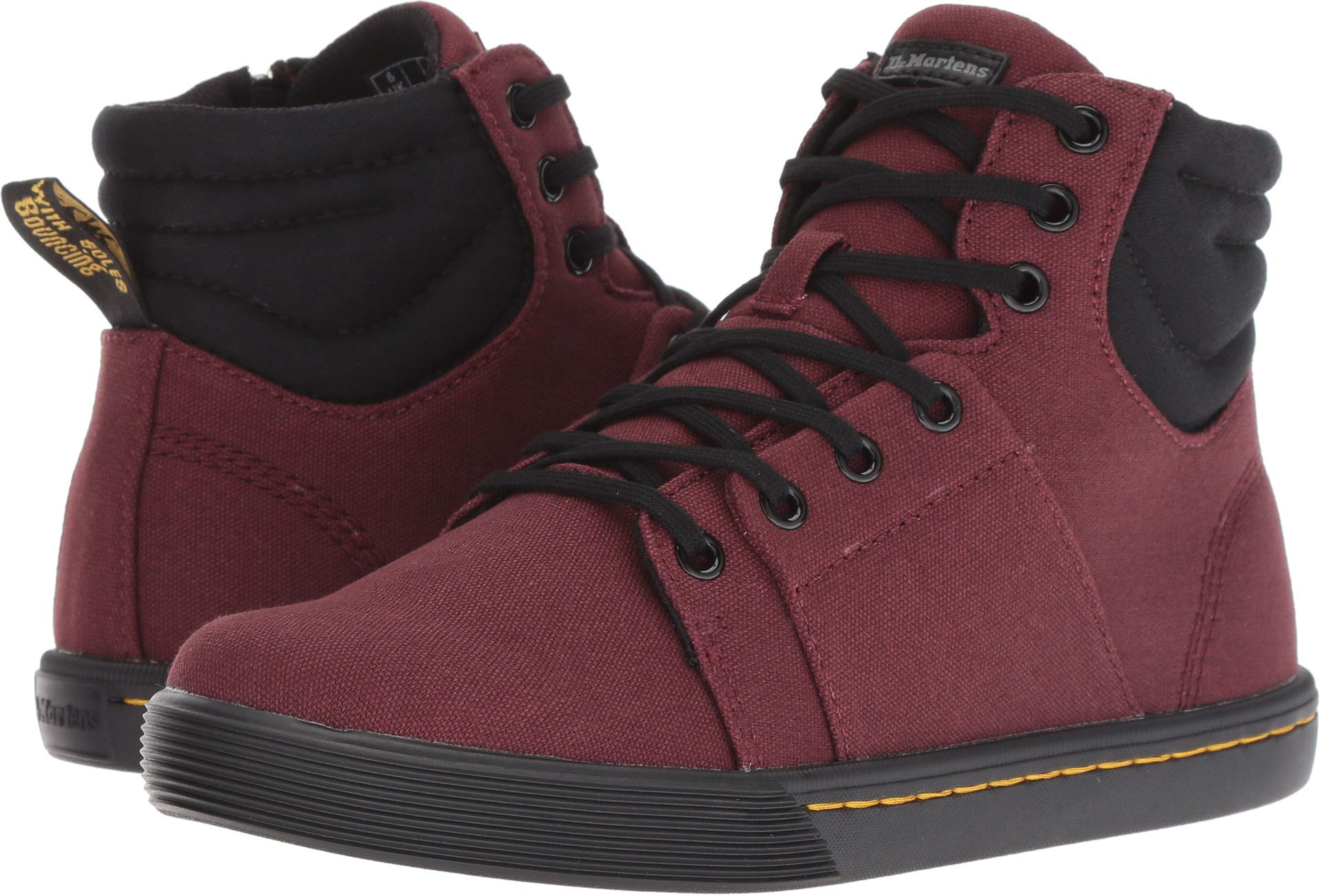 Dr. Martens Women's Rozarya Octavo Old Oxblood Canvas/Black Fine Canvas 4 M UK M by Dr. Martens (Image #1)