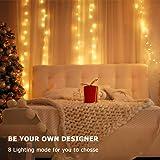 HSicily Fairy Lights Plug in, 8 Modes 33ft 100 LED