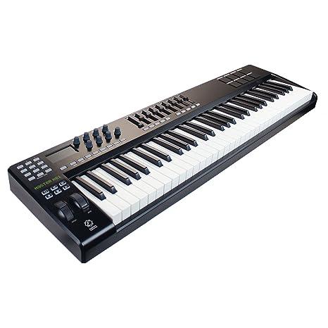 Eagletone K 61 teclado maestro MIDI/USB de 61 teclas Negro