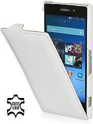 StilGut Housse UltraSlim en cuir pour Sony Xperia Z2, en blanc