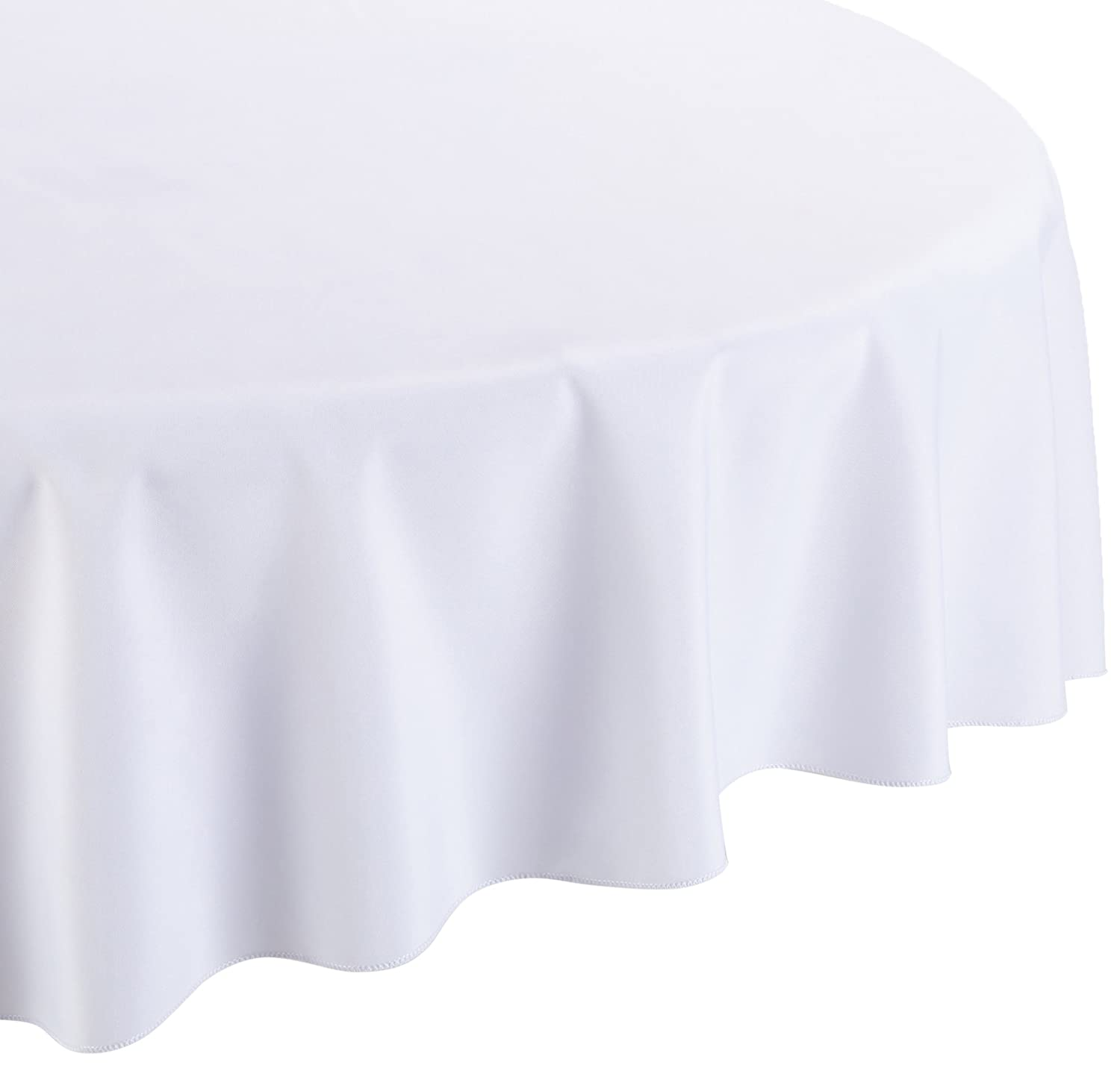 Amazon.com: LinenTablecloth 108 Inch Round Polyester Tablecloth White: Home  U0026 Kitchen