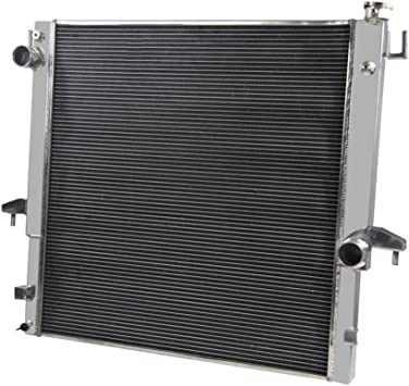 2-Row Aluminum Radiator For Dodge Ram 2500//3500 5.9 6.7 Cummins Engine 2003-2010