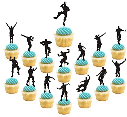 Amazon 30 Pieces Dance Floss Cupcake Toppers15 Types Game