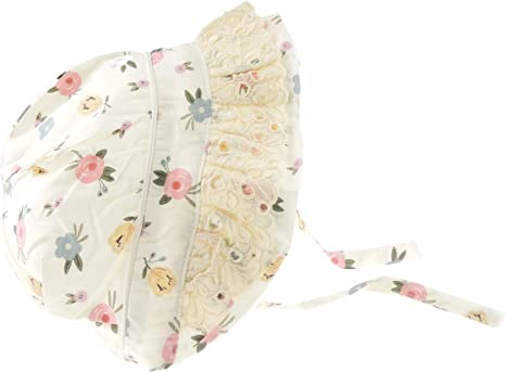 Glamour Girlz - Gorro para bebé (algodón, 3 a 12 meses) blanco Crema Flor Grande Talla:Medium 34cm 3-6 Months: Amazon.es: Bebé