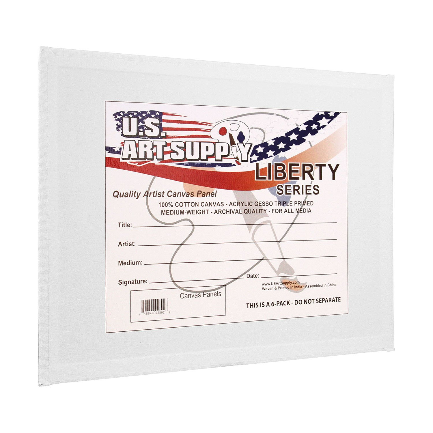 US Art Supply 11 X 14 inch Professional Artist Quality Acid Free Canvas Panels 12-Pack (1 Full Case of 12 Single Canvas Panels) by US Art Supply (Image #2)