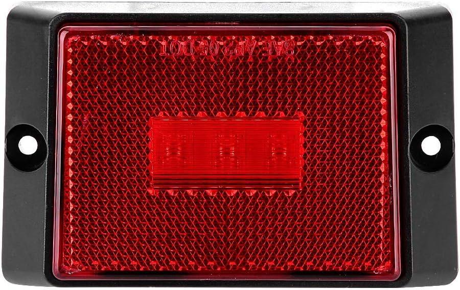 Duokon 12V Feu de Position LED D4369R rouge Lumi/ère Lat/érale de Remorque de Camion Universelle LED Lampe de Position Feu Arri/ère