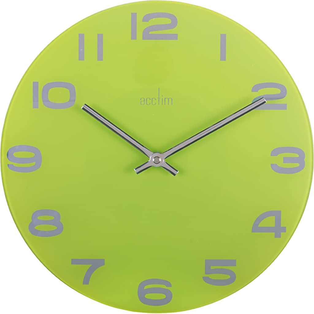 Acctim Mika 30 cm Lime Green Wall Clock