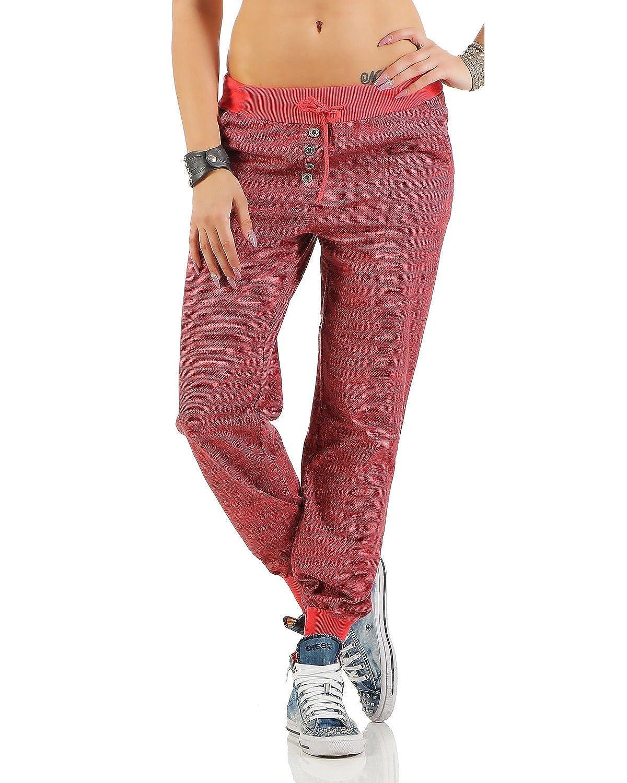 97d3565ca9 Zarmexx de Las Mujeres de Moda los Pantalones Deportivos Sudor Pantalones  Anchos Novio Pantalones Casuales de algodón Ajuste Flojo  Amazon.es  Ropa y  ...