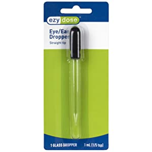 Ezy Dose Straight Tip Glass Medicine Dropper │ Great for Essential Oils