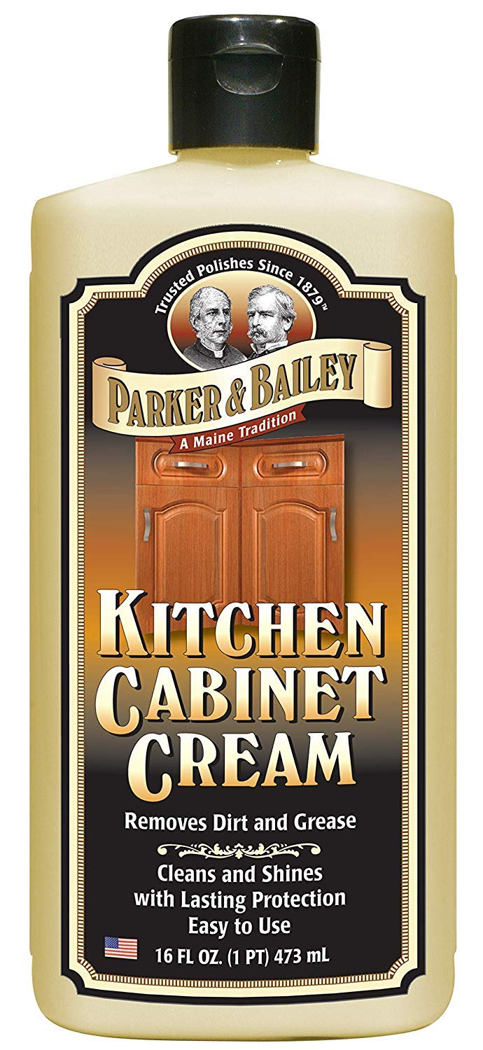 Parker and Bailey Kitchen Cabinet Cream - Wood Cleaner and Furniture Polish- Kitchen Cleaner and Cabinet Grease Remover- Wood Polish- 16 Ounce by Parker & Bailey