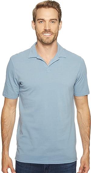 Mod-o-doc Men's Pescadero Short Sleeve Johnny Collar Polo Fountain Shirt