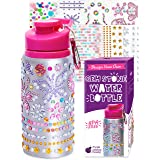 Purple Ladybug Decorate Your Own Water Bottle for Girls with Tons of Rhinestone Glitter Gem Stickers - BPA Free, Kids Water B