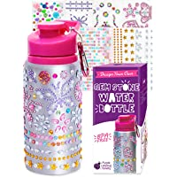 Purple Ladybug Decorate Your Own Water Bottle for Girls with Tons of Rhinestone Glitter Gem Stickers - BPA Free, Kids…