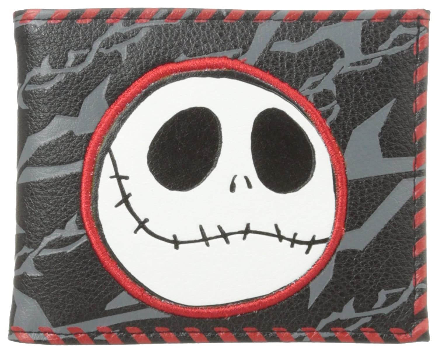 Nightmare Before Christmas Men\'s Billfold Wallet with Jack\'s Face ...