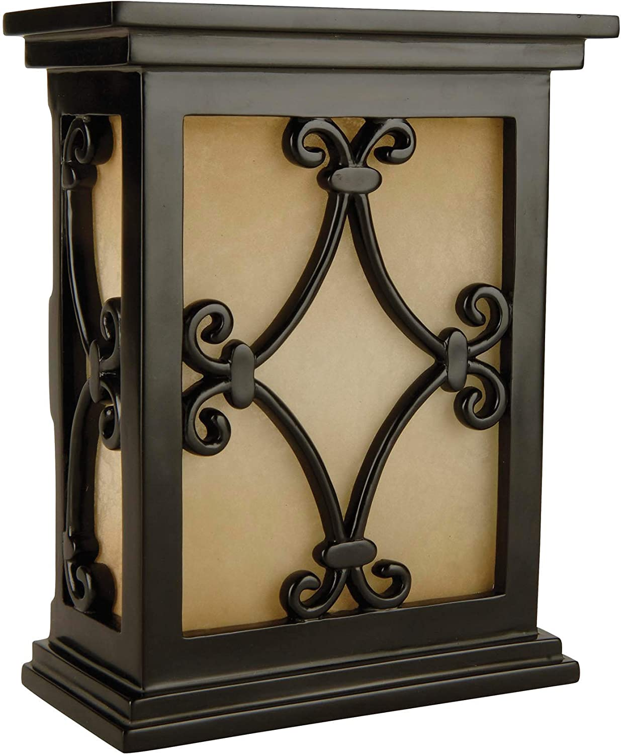 "Craftmade CH1515-BK Designer Hand-Carved Scroll Door Chime, Black (10""H x 7""W)"