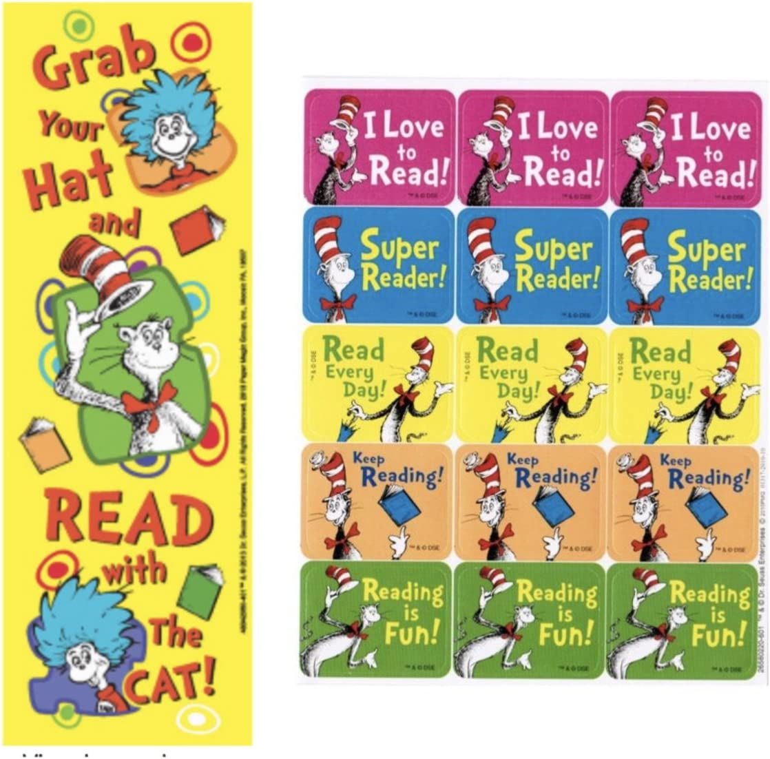 Cat in the Hat IF Dr Seuss Magnetic Bookmarks