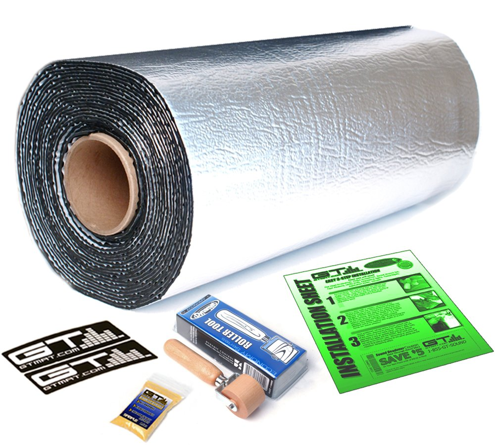 10 sqft GTmat Pro 50mil Roll Automotive Sound Deadener with Genuine Dynamat Roller