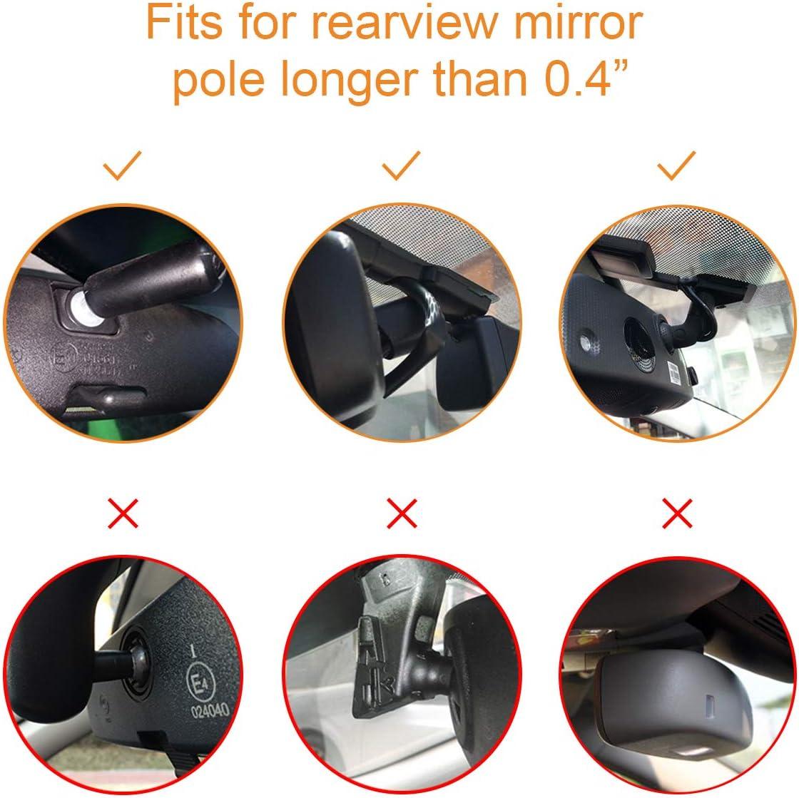 X3 X1 Vantrue Dash Cam Rearview Mirror Mount for N2 Pro V1P Dash Cams Rexing V1 Yi 89006 Dash Cam X1 Pro Dash Cams T1 N2 T2