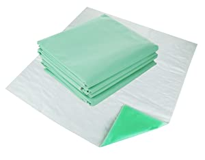 Remedies Washable Bed Pads - Reusable Underpads for Incontinence, Soft and Absorbent Underpad, Large 34 x 36 inches, Pack of 4 (Green)
