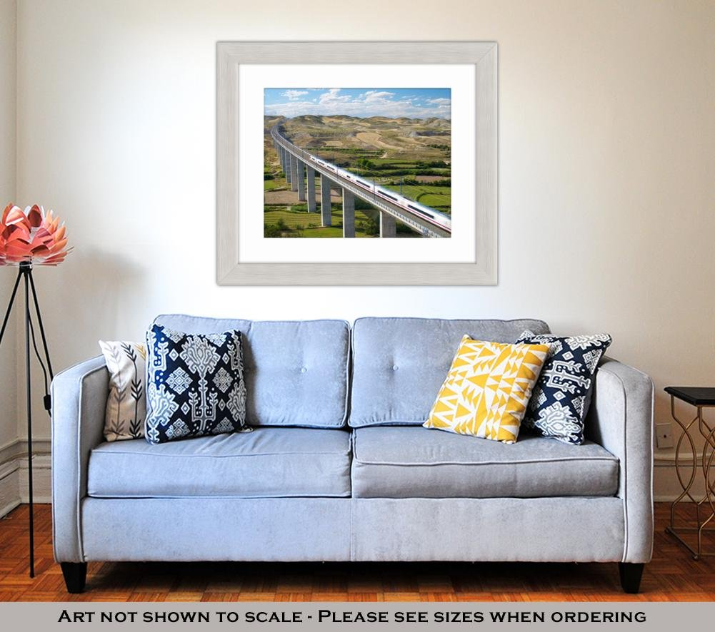Amazon.com: Ashley Framed Prints Barcelonview Highspeed ...
